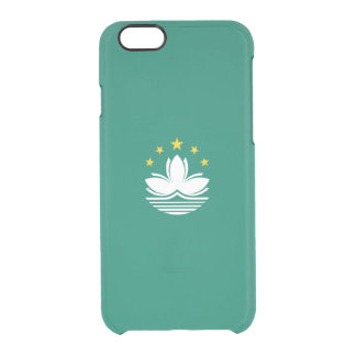 Flag of Macau Clear iPhone Case