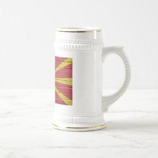Flag of Macedonia 18 Oz Beer Stein