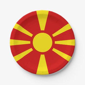 Flag of Macedonia Paper Plates