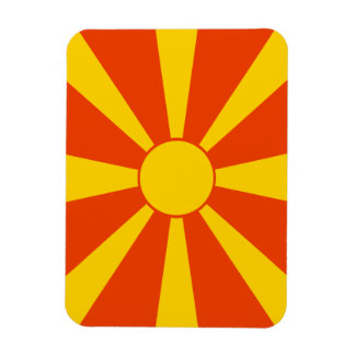 Flag of Macedonia Rectangular Photo Magnet