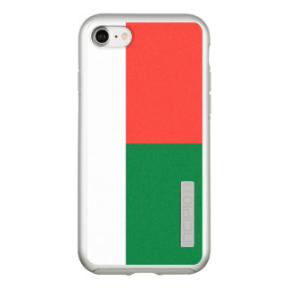 Flag of Madagascar Silver iPhone Case