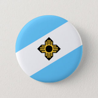 Flag of Madison, Wisconsin 2 Inch Round Button