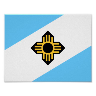 Flag of Madison, Wisconsin Poster