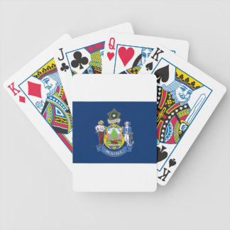 Flag Of Maine Bicycle Playing Cards