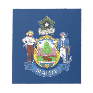 Flag Of Maine Notepad