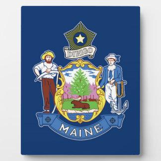 Flag Of Maine Plaque