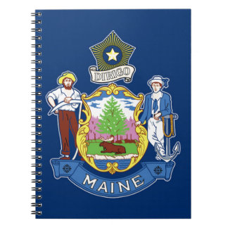 Flag Of Maine Spiral Notebook