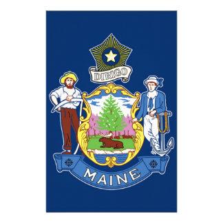 Flag Of Maine Stationery