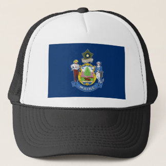 Flag Of Maine Trucker Hat