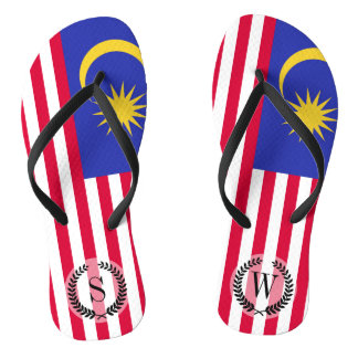Flag of Malaysia Flip Flops