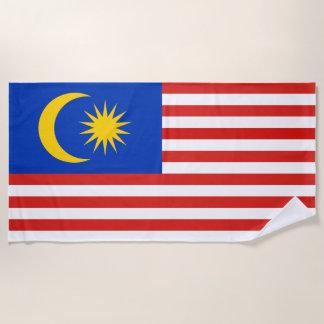 Flag of Malaysia Jalur Gemilang Beach Towel