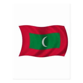 Flag of Maldives Postcard