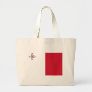 Flag_of_Malta Large Tote Bag