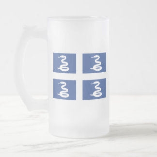 Flag of Martinique Frosted Glass Beer Mug