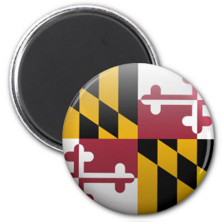 Flag of Maryland 2 Inch Round Magnet
