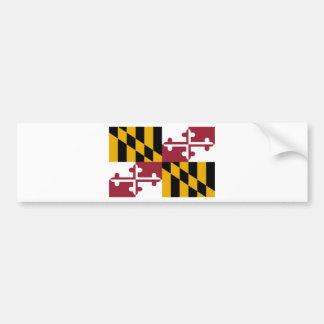 Flag Of Maryland Bumper Sticker