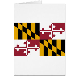 Flag Of Maryland Card