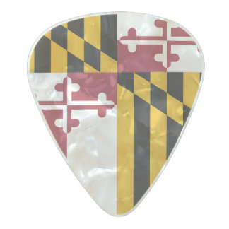 Flag of Maryland Guitar Picks Pearl Celluloid Guitar Pick