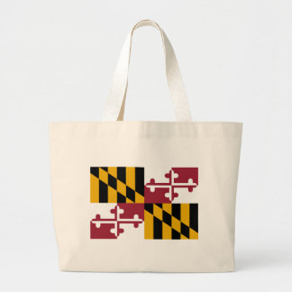 Flag Of Maryland Large Tote Bag