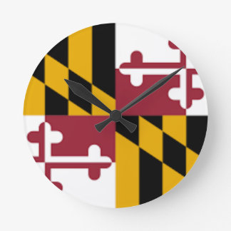 Flag Of Maryland Round Clock