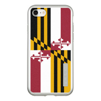 Flag of Maryland Silver iPhone Case