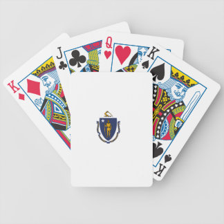 Flag Of Massachusetts Bicycle Playing Cards