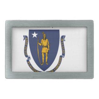 Flag Of Massachusetts Rectangular Belt Buckles
