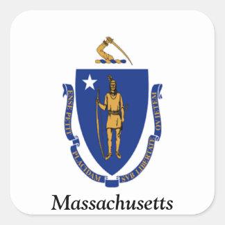 Flag of Massachusetts Square Sticker