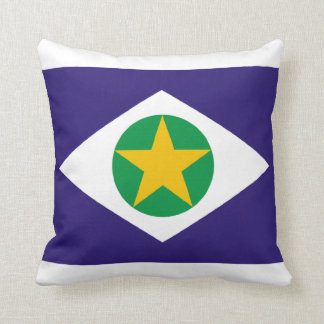 Flag of Mato Grosso, Brazil Throw Pillow