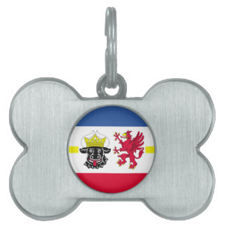 Flag of Mecklenburg-Western Pomerania Pet Name Tag