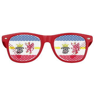 Flag of Mecklenburg-Western Pomerania Retro Sunglasses