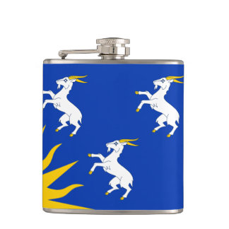 Flag of Merionethshire Hip Flask