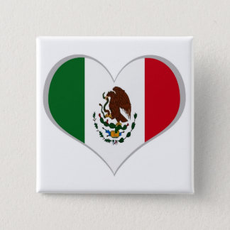 Flag of Mexico 2 Inch Square Button