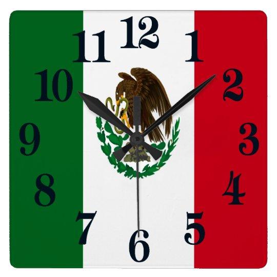 Flag of Mexico Clock
