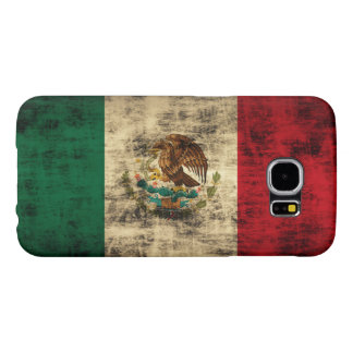 Flag of Mexico Distressed Samsung Galaxy S6 Cases