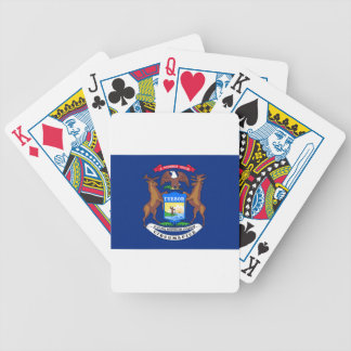 Flag Of Michigan Bicycle Playing Cards