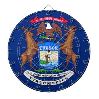 Flag Of Michigan Dartboard