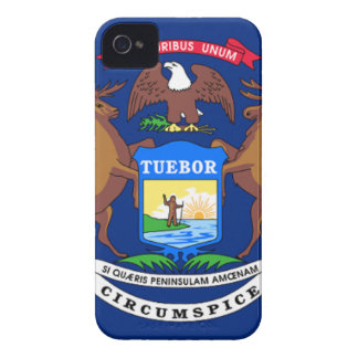 Flag Of Michigan iPhone 4 Case-Mate Case