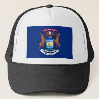 Flag Of Michigan Trucker Hat