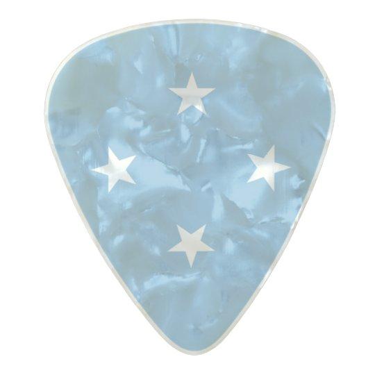 Flag of Micronesia Guitar Picks Pearl Celluloid Guitar Pick