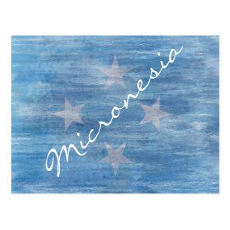 Flag of Micronesia - Personalise Postcard