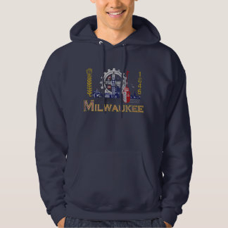 Flag of Milwaukee Wisconsin Hoodie