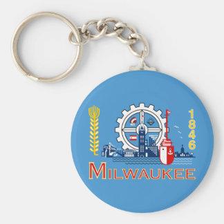 Flag of Milwaukee, Wisconsin Keychain