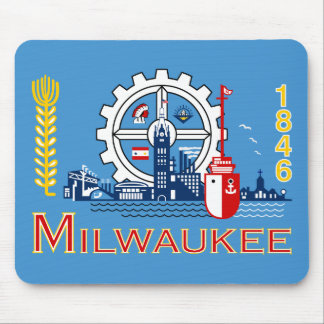 Flag of Milwaukee, Wisconsin Mouse Pad