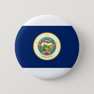 Flag Of Minnesota 2 Inch Round Button