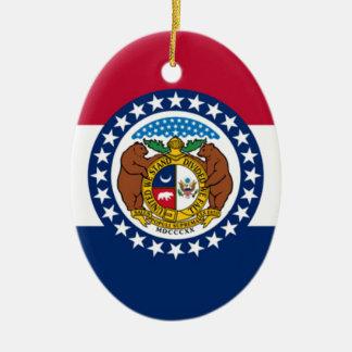 Flag Of Missouri Ceramic Ornament