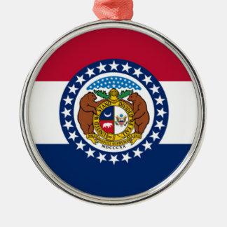 Flag Of Missouri Metal Ornament