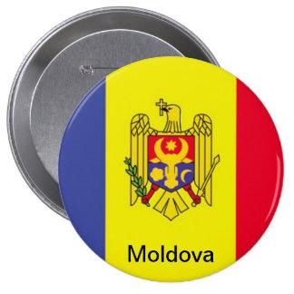 Flag of Moldova 4 Inch Round Button
