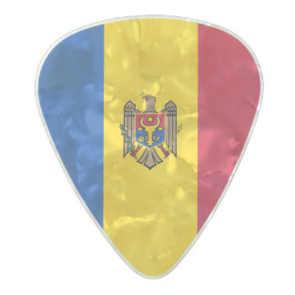 Flag of Moldova Guitar Picks Pearl Celluloid Guitar Pick