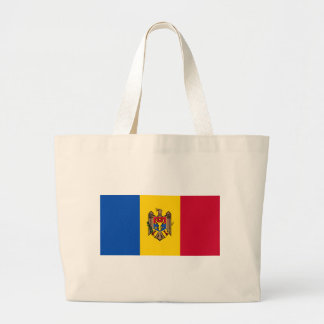 Flag_of_Moldova Large Tote Bag